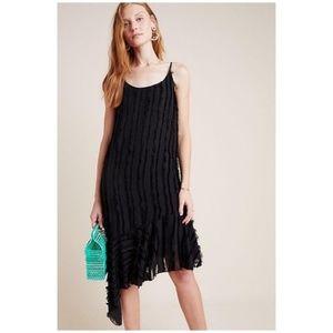 Anthropologie Fringed Slip Dress